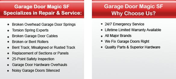 1 Santa Rosa Garage Door Repairs 707 508 4515